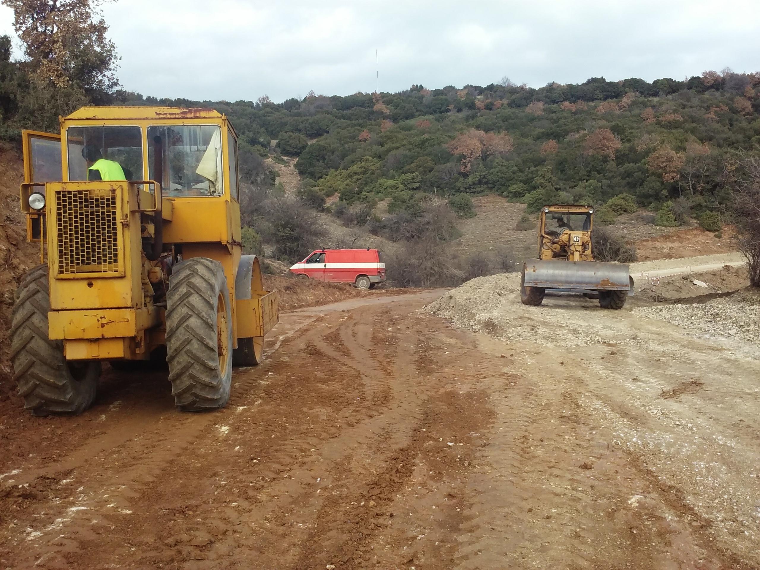 Βελτίωση κεντρικής οδοποιίας οδού προς ΑΣΠΗΕ «ΣΤΕΝΟΛΑΚΚΟΣ» (2016)